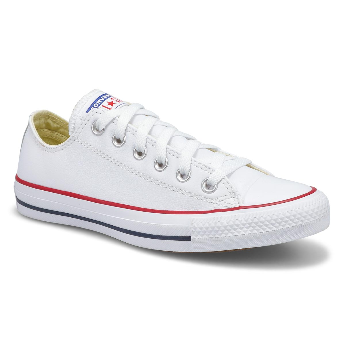 Lds CT All Star Leather Ox wht sneaker