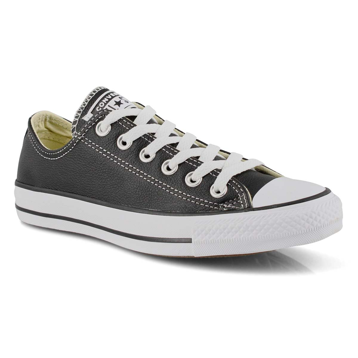 Lds CT All Star Leather black sneaker
