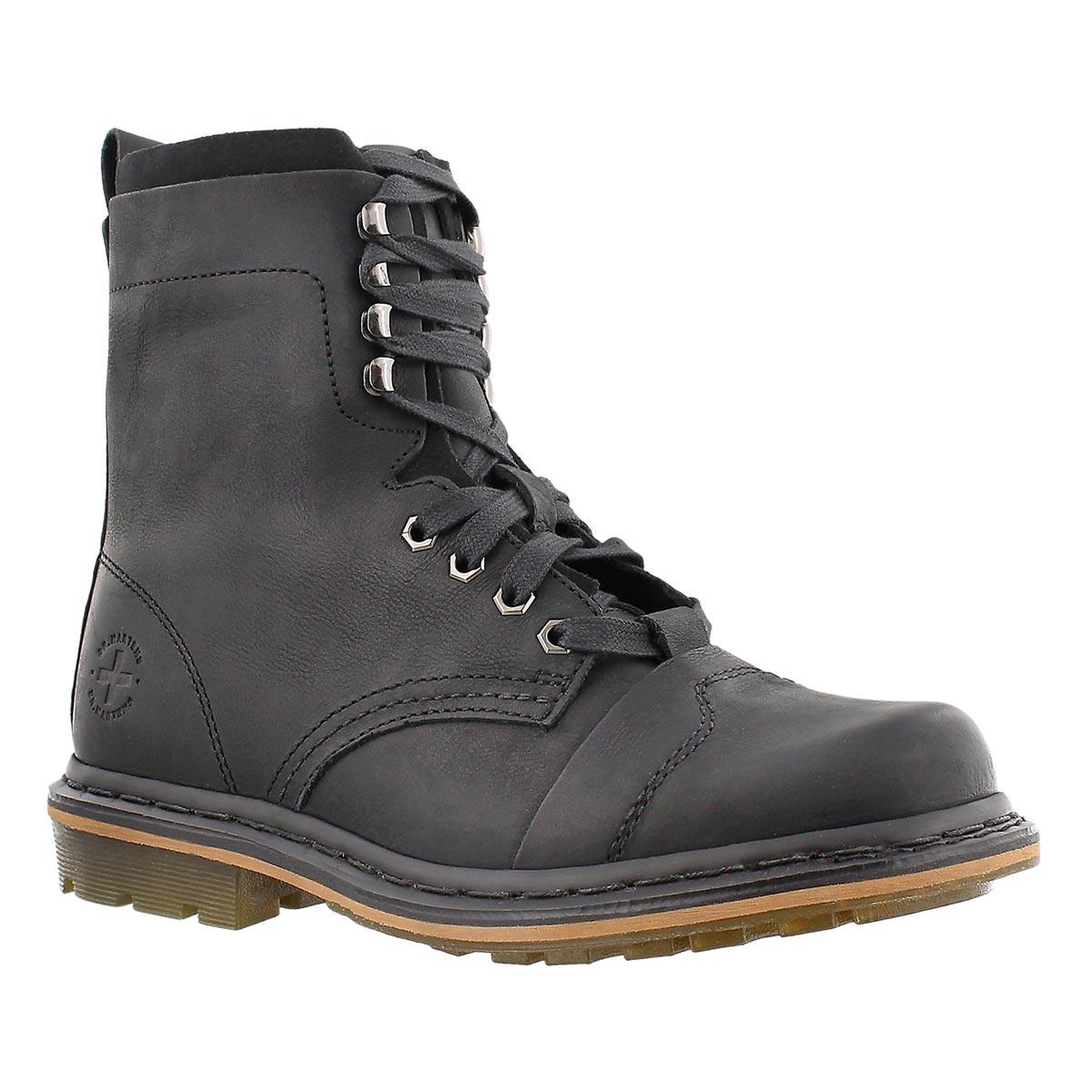 Mns Pier black 9 eye leather boot
