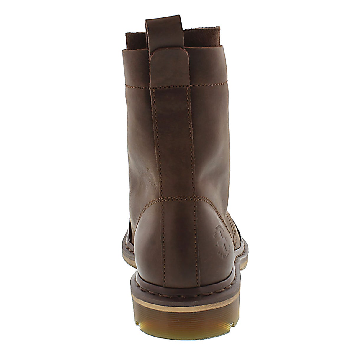 Mns Pier dk brown 9 eye leather boot