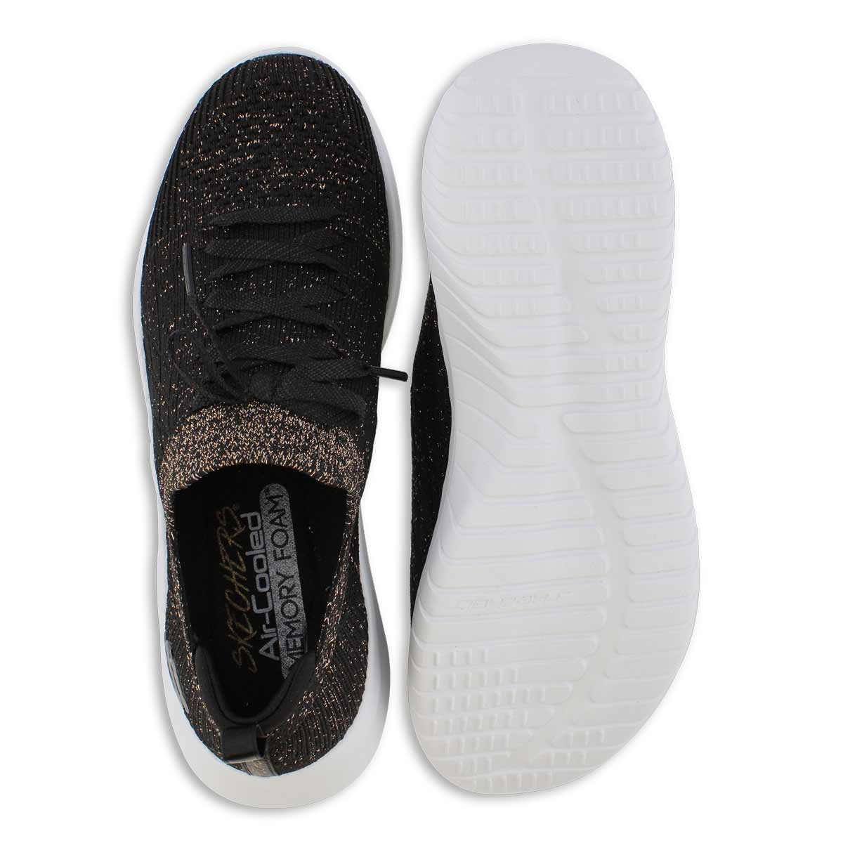Lds Ultra Flex 2.0 blk/gold slip on snkr