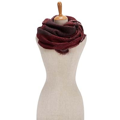 Fraas Women's BIAS CUT COLOR BLOCK WRAP wine scarves