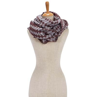 Fraas Women's BIAS CUT VERIGATED GEO WRAP wine scarves