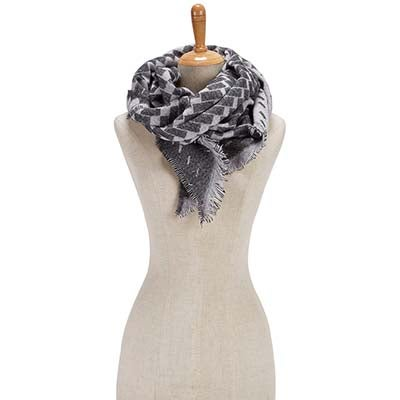 Fraas Women's BIAS CUT VERIGATED GEO WRAP grey scarves