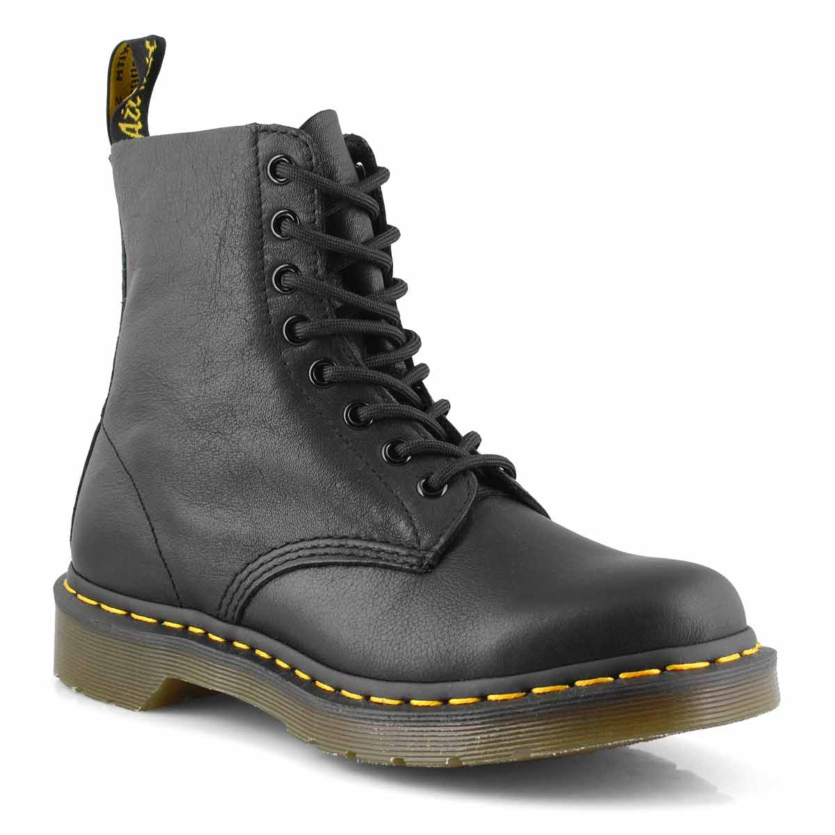 Women's Pascal 8 Eye Black Soft Leather Boots by Dr Martens