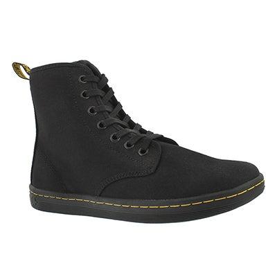 Lds Shoreditch black canvas low boot