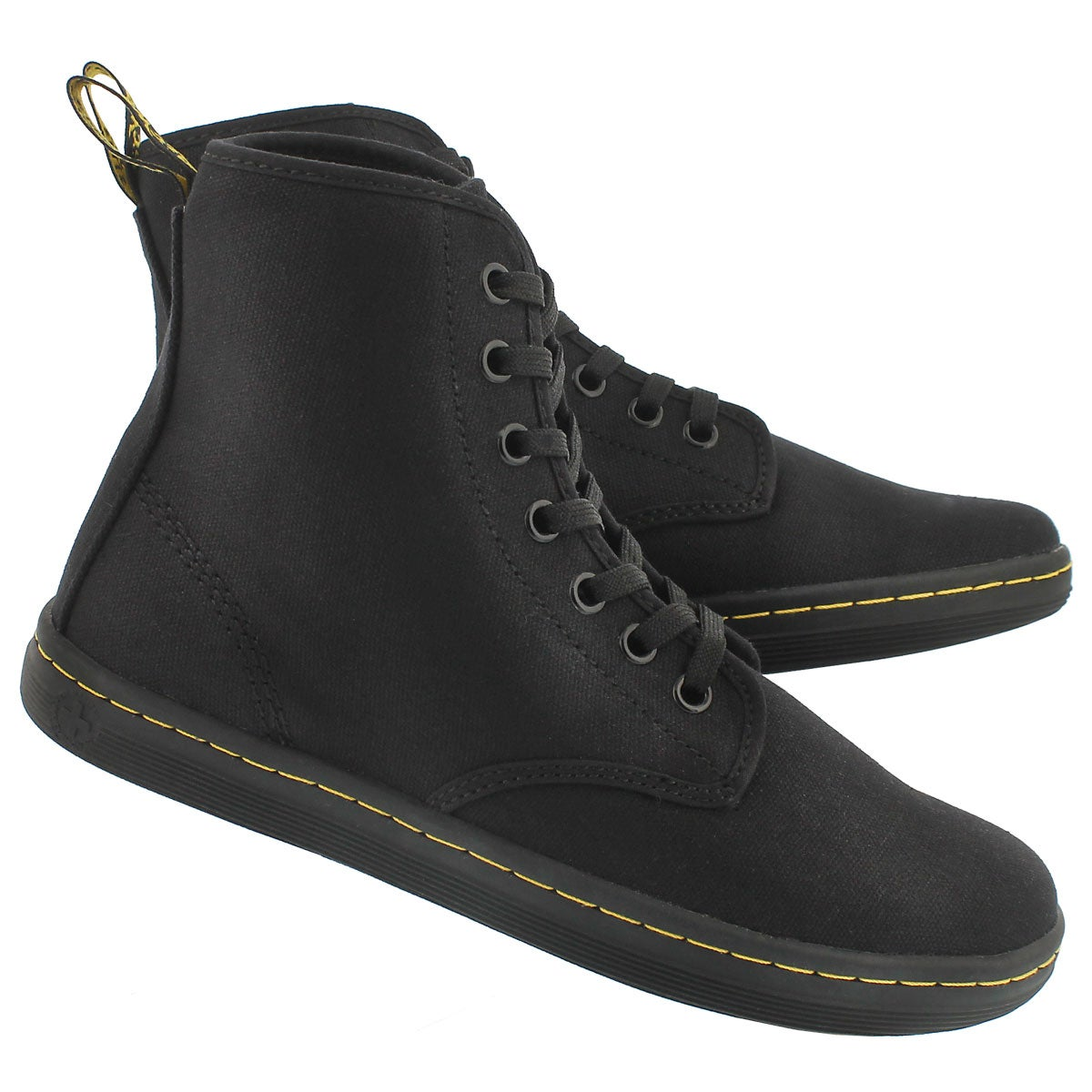 Lds Shoreditch black canvas low boot