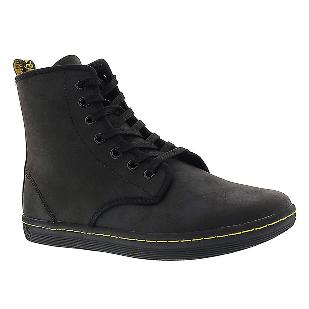 Women's SHOREDITCH black leather mid boots