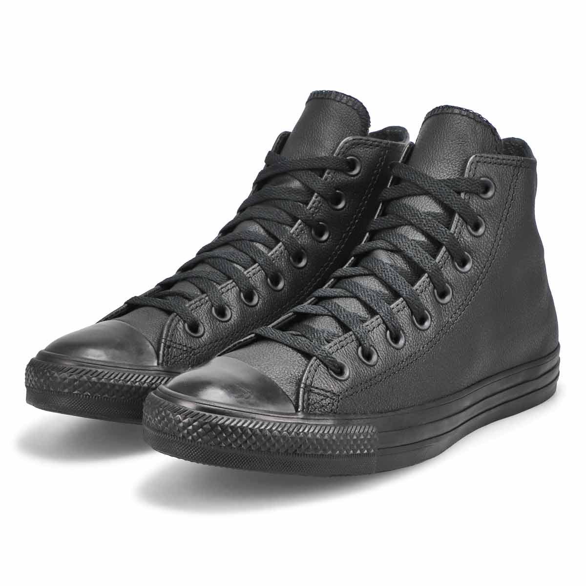 Mns CTAS Leather Hi blk mono snkr