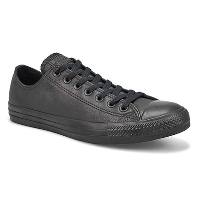 Converse Men's CT ALL STAR LEATHER black mono sneakers