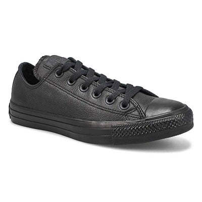 Converse Women's CT ALL STAR LEATHER black mono sneakers