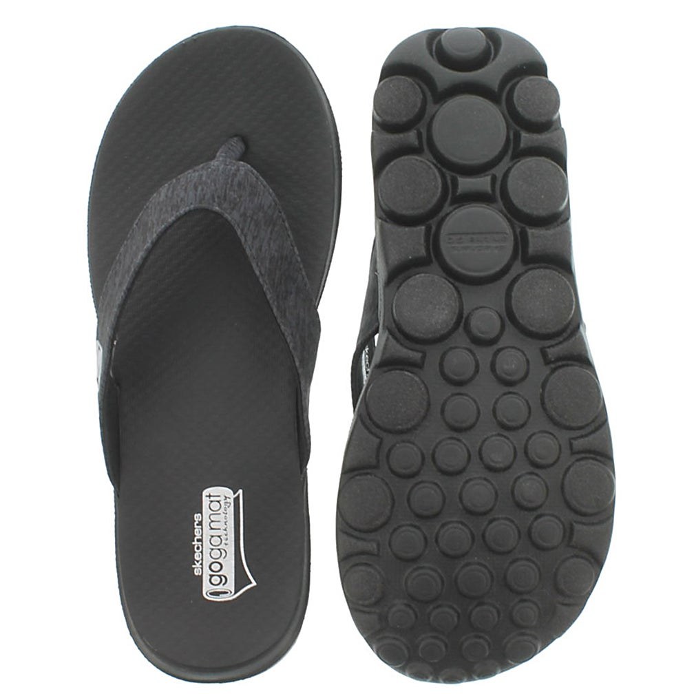 Lds Flow black thong sandal