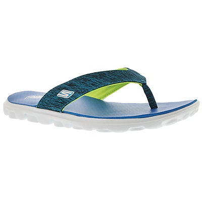 Skechers Women's FLOW blue thong sandals