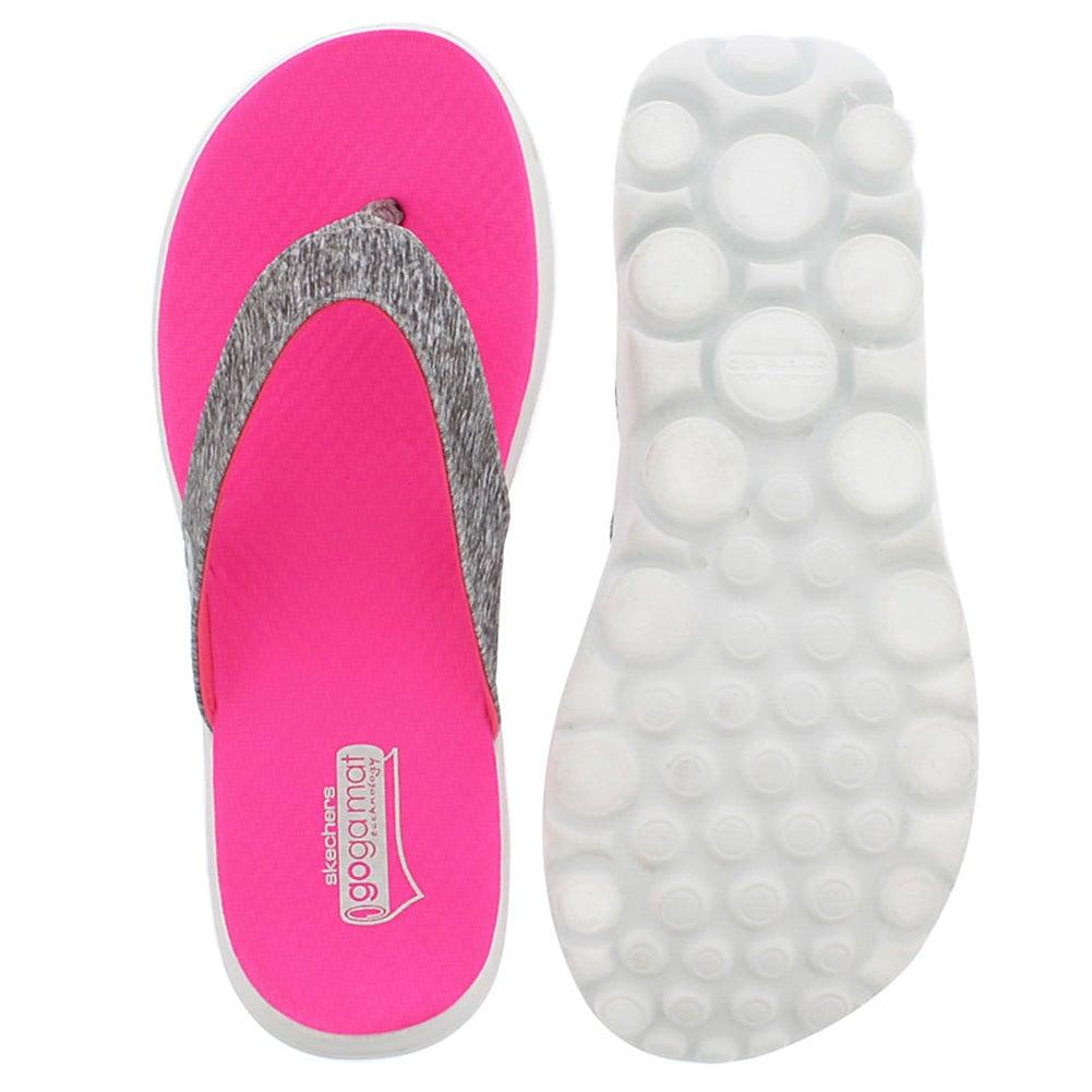 Lds Flow grey/pink thong sandal