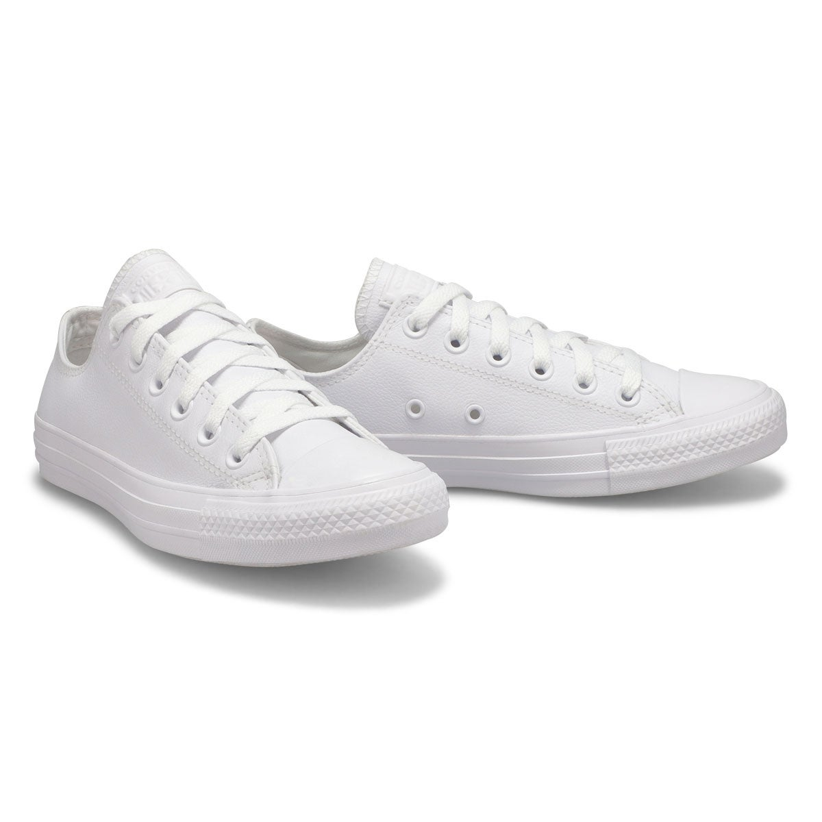 Lds CTAS Leather Ox wht mono snkr