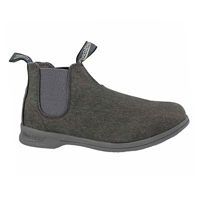 Unisex Canvas charcoal pull on boot