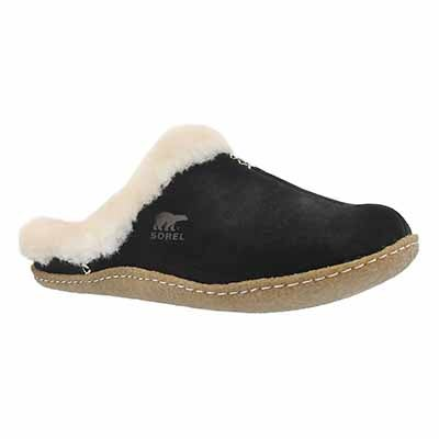 Sorel Women's NAKISKA SLIDE black suede slippers