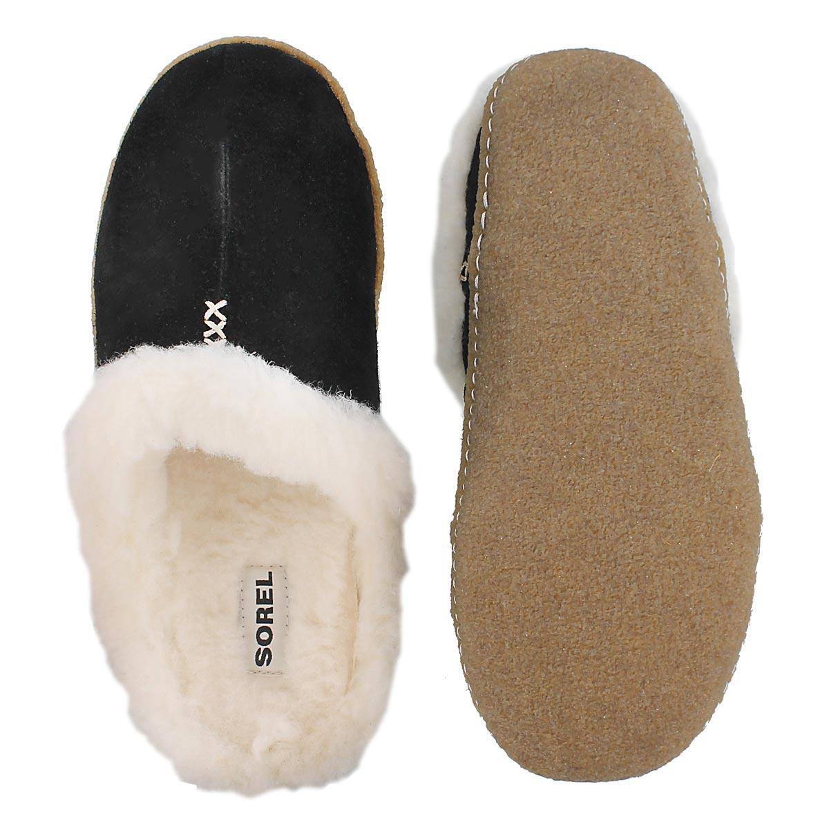 Lds Nakiska Slide black suede slipper