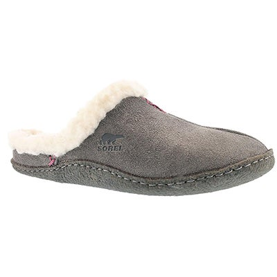 Sorel Women's NAKISKA SLIDE shale suede slippers