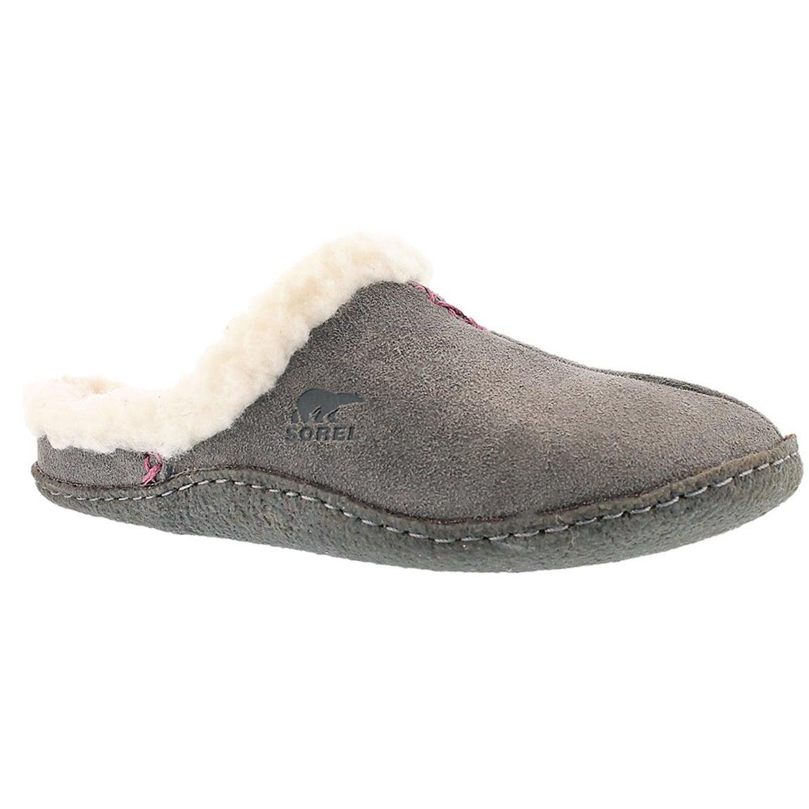 Women's NAKISKA SLIDE shale suede slippers