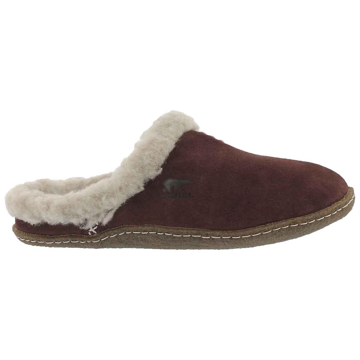 Lds Nakiska Slide redwood suede slipper