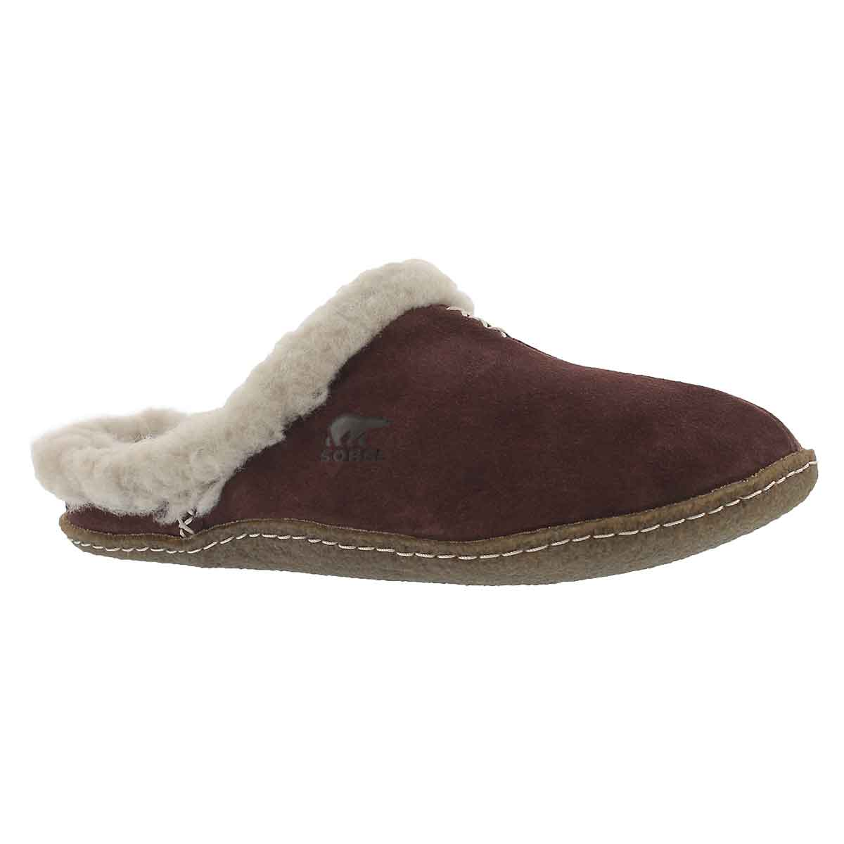 Women's NAKISKA SLIDE redwood suede slippers