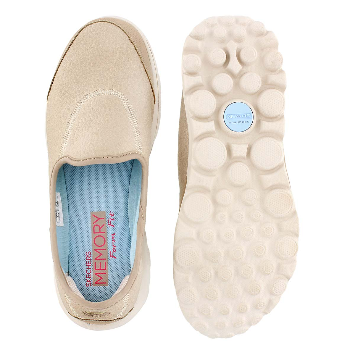 Lds GOwalk Aspire natural slipon sneaker