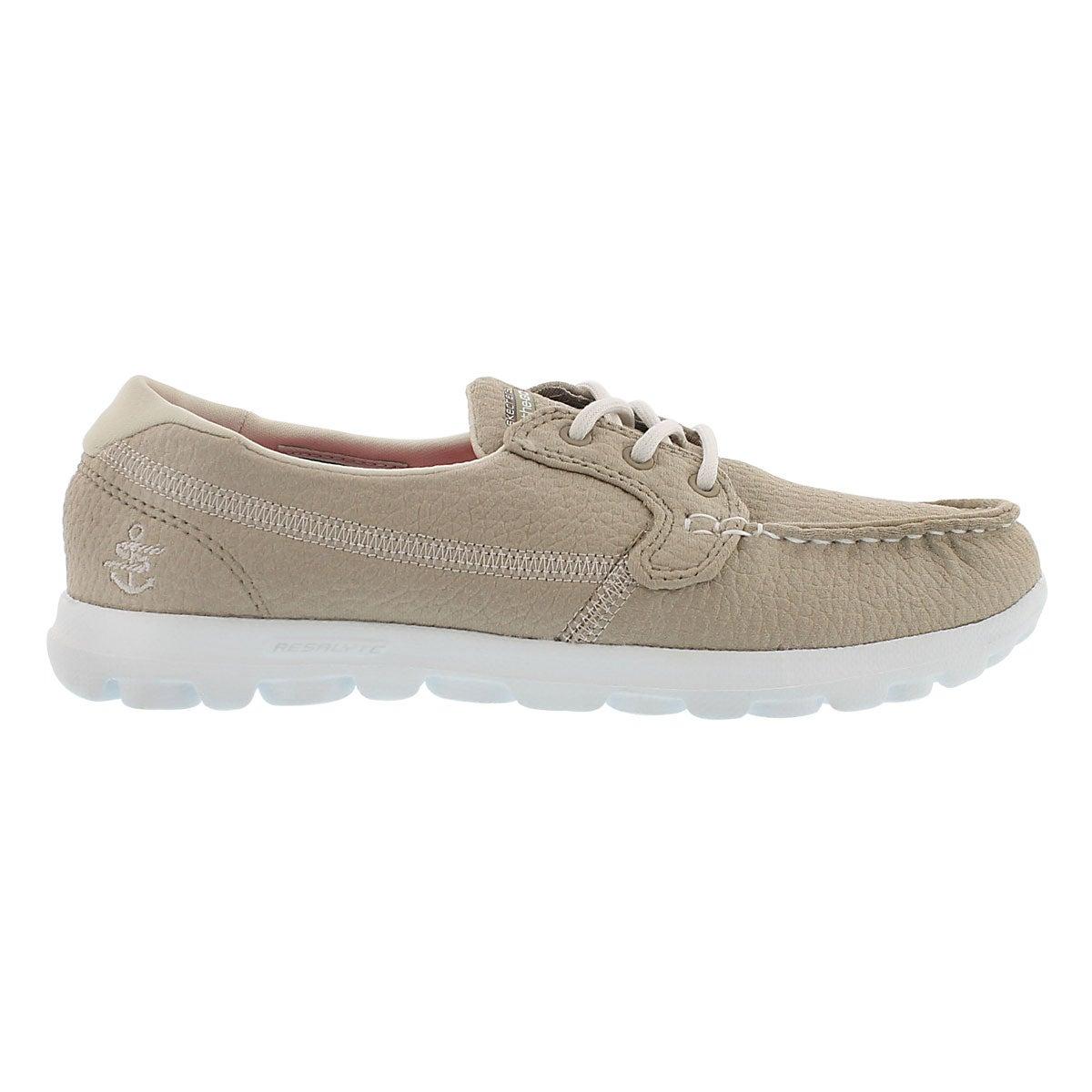 Lds Cruise natural 3 eye boat shoe