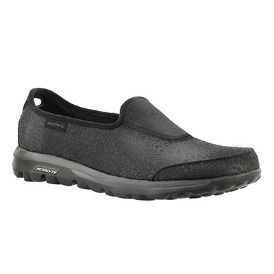 Skechers Women's GOwalk - UNTAMED black slip ons