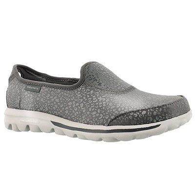 Skechers Women's GOwalk - UNTAMED charcoal slip ons