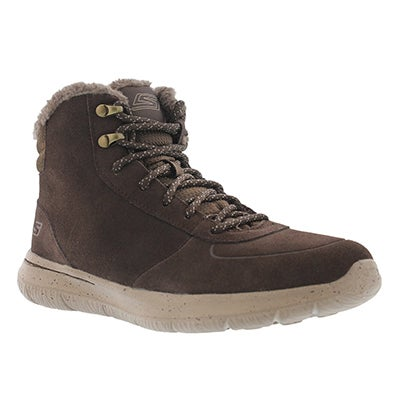 Lds GOwalk City chocolate lace up boot