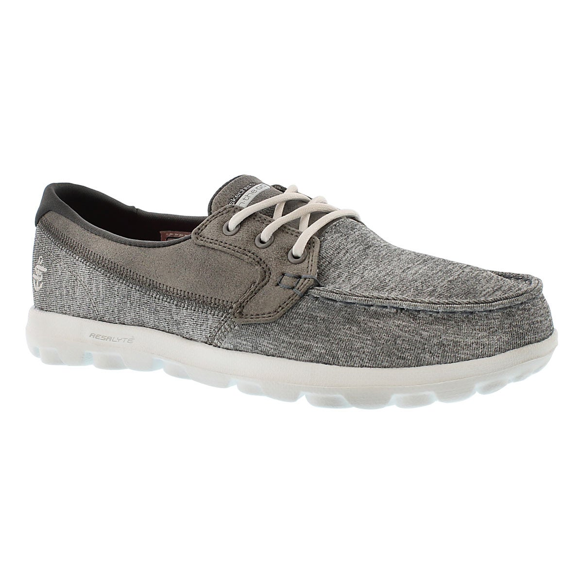 Lds Headsail charcoal 3 eye boat shoe