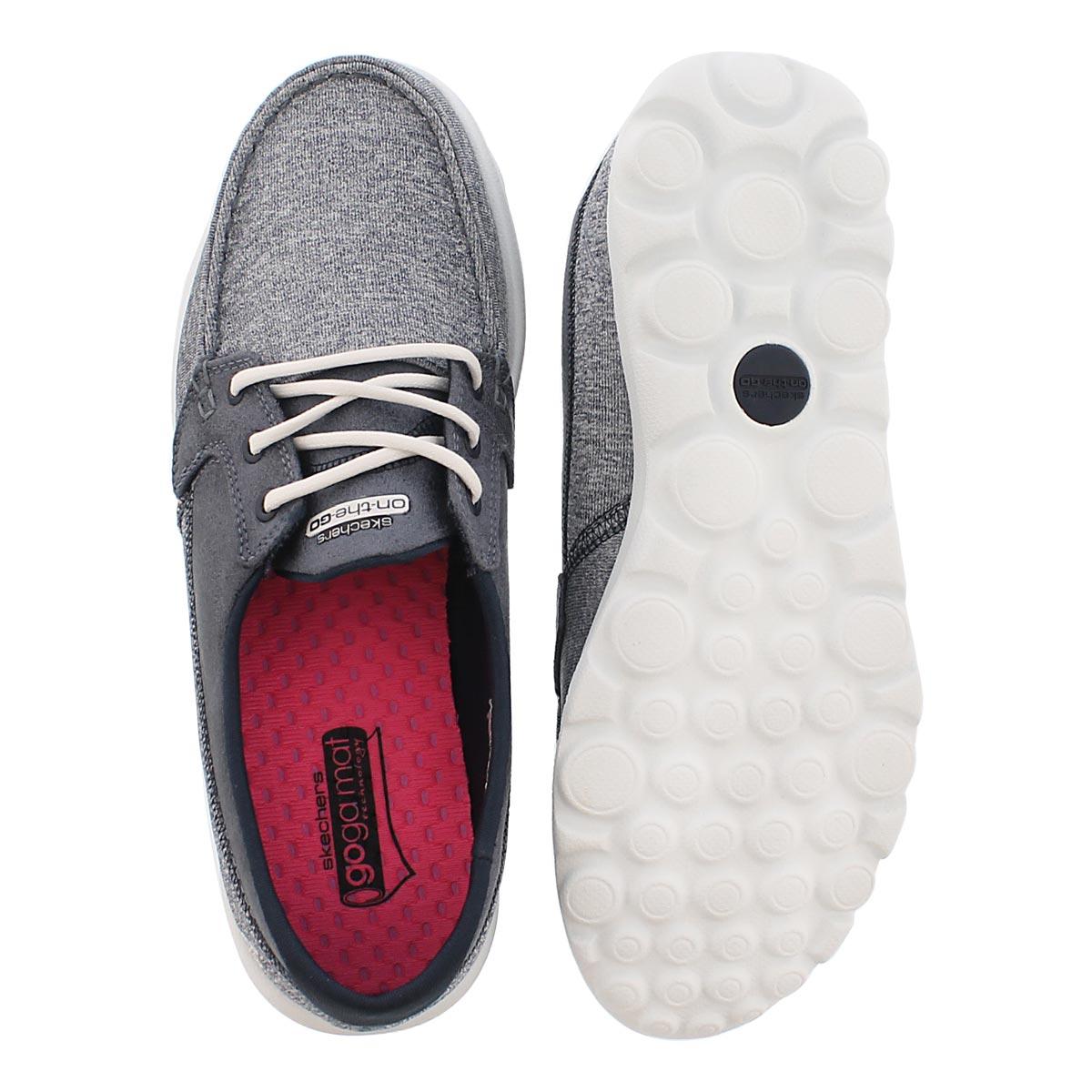 Lds Headsail navy 3 eye boat shoe