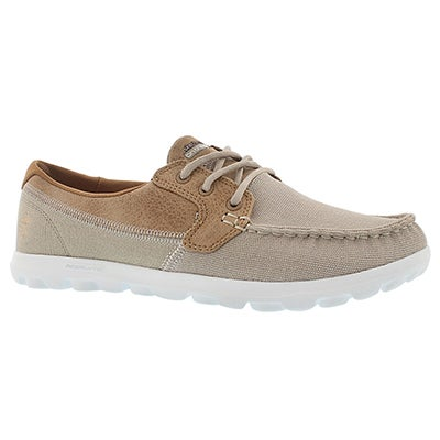Skechers Women's BREEZY natural 3 eye boat shoes