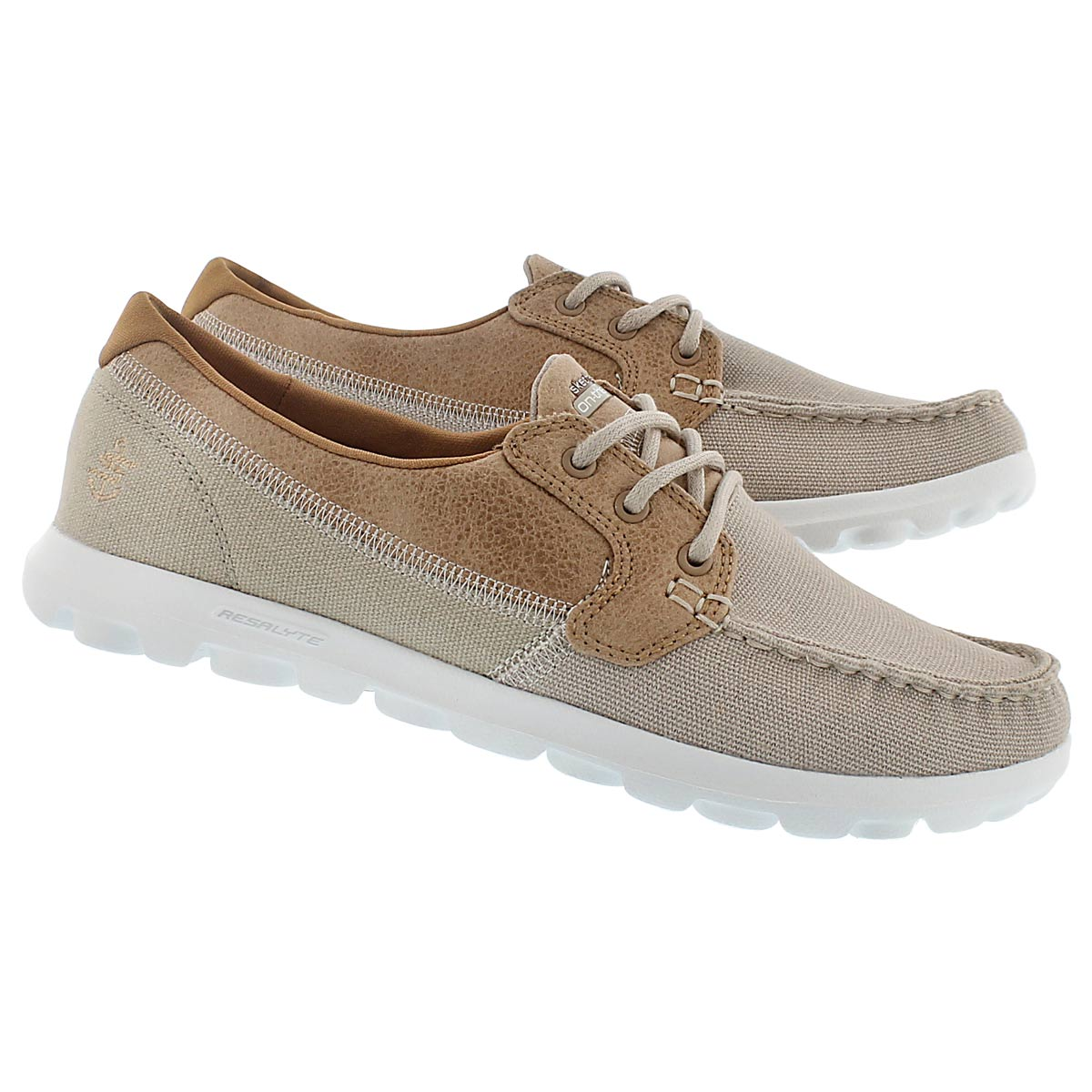 Lds Breezy natural 3 eye boat shoe