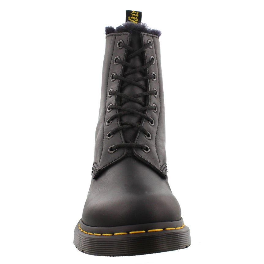 Lds Serena 8eye blk faux fur lined boot