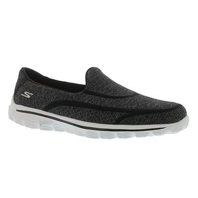 Skechers Women's GOwalk 2 SUPER SOCK 2 black/white slip-ons