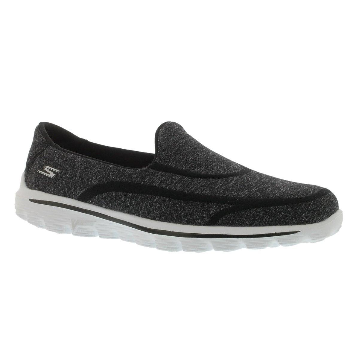 Lds GOwalk 2-Super Sock2 blk/wht slip on