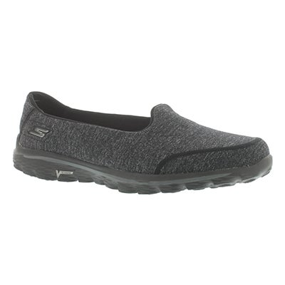 Skechers Women's GOwalk 2 BIND black slip on walking shoes