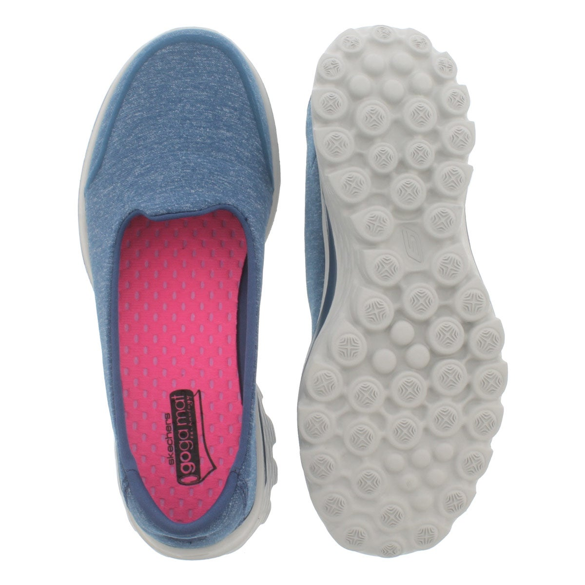 Lds GOwalk 2 Bind blu slipon shoe