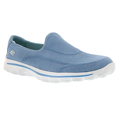 Skechers Women's GOwalk SUPER SOCK blue/white slip-ons