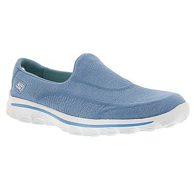 Skechers Flâneur bleu/blanc GOwalk SUPER SOCK, femmes