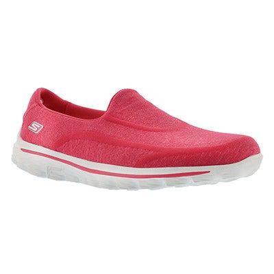 Skechers Women's GOwalk SUPER SOCK pink slip ons