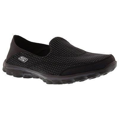Skechers Women's GOwalk CONVERTIBLE black slip ons