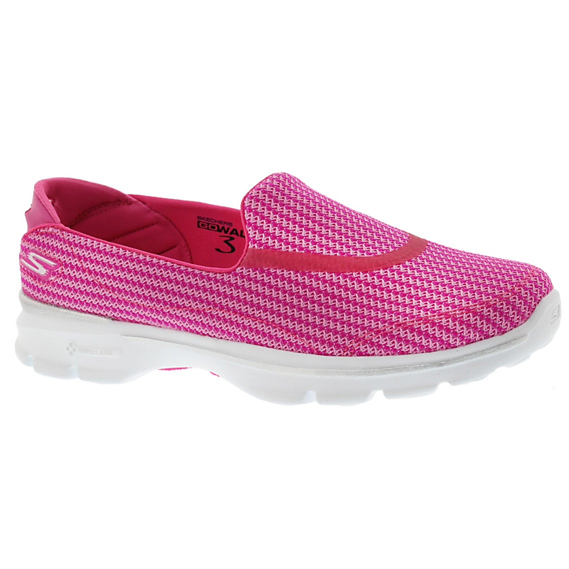 Lds GOwalk 3 pink slip on walking shoe