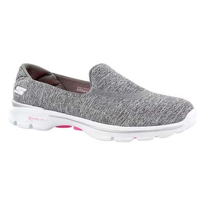 Skechers Women's GOwalk 3 REBOOT grey slip on shoes
