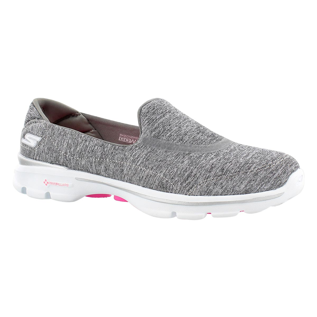 Women's GOwalk 3 REBOOT grey slip on shoes
