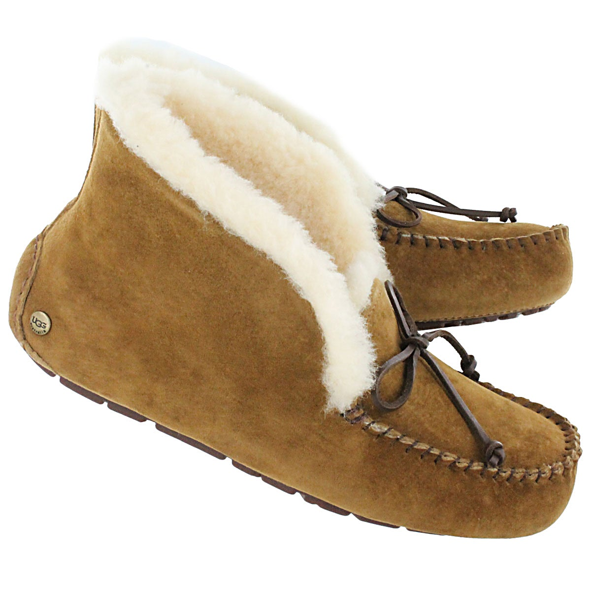 Lds Alena chestnut fold down moccasin