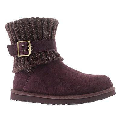 UGG Australia Women's CAMBRIDGE port sheepskin buckle boots