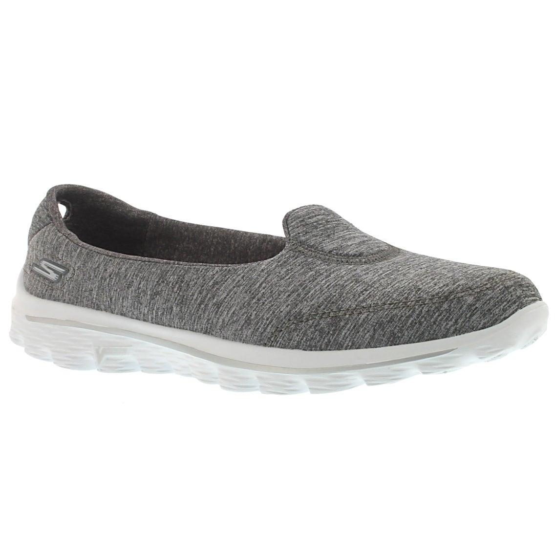 Lds GOwalk 2 Whirl grey slip on